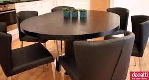 wonderful dining room furniture using round extendable dining table minimalist dining room decoration with dark