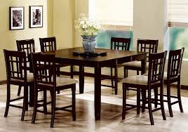 dining table set with lazy susan. rich cappuccino finish counter height lazy susan 9 piece dining set by coaster - 101898 table with n