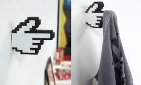finger hanger 8 Bit Pixelated Hanger Inspired by Mouse Pointer