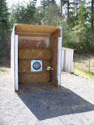 deff having a target range on the backyard along with a place to diy archery