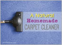 homemade carpet cleaner and natural