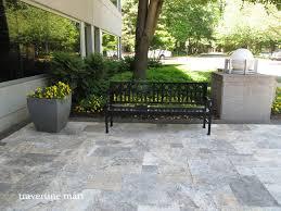 silver travertine pavers pool and patio natural stone traditionalexterior silver travertine patio e48 patio