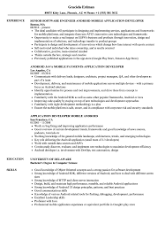 Android Application Developer Resume Samples Velvet Jobs
