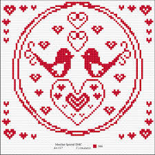 Chart Cross Stitch Free Free Valentines Cross Stitch Charts