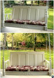 diy door porch swing re purpose old door into porch swing project