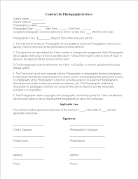 Free Photographer Services Agreement Template Templates At