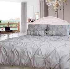 gray white pintuck duvet cover set 3 pc cotton sateen bedding 500 with regard to white pintuck decorations 16