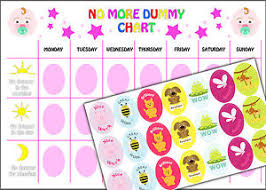 Weaning Chart Details About Girls No Dummy Chart Childs Weaning Training A4 Reward Chart And Stickers