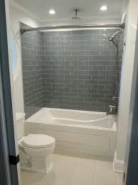 Stunning Glass Tile Master Bath Remodel Transitional Bathroom