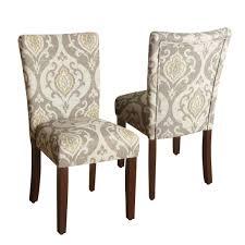 homepop suri parson dining chair set of 2 raffia ivory cream fabric