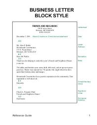 4 Business Letter Formats Block Modified Block Simplified The