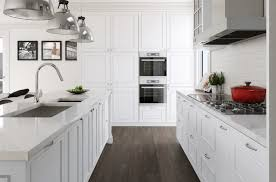 White Kitchen White Countertops Beautiful Kitchen With White Cabinets Kitchen Cabinets White