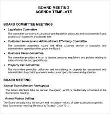 Agenda Sample Format Cool Sample Board Meeting Agenda Template Nonprofit Board Meeting Agenda