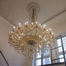 Hause Beleuchtung Große Kristall Kronleuchter Champagner Glas Lampe