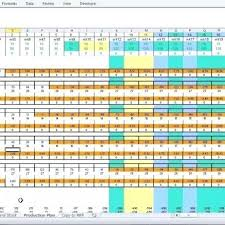 Production Schedule Template Excel Free Download Production Planning Excel Template Production Planning Excel