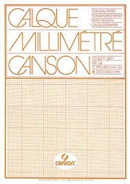 Canson 17136 Transparent Graph Paper Pad A3 70 G M 50 Sheets Orange