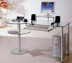 creative of glass computer desk building your own glass computer desk home design ideas