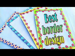 How To Decorate A Chart Paper Border Download Mp3 Border Designs For Chart Paper 2018 Free