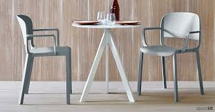 industrial cafe furniture. ark round white industrial style cafe table furniture