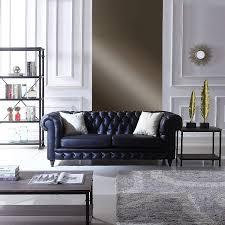 Furniture Classic Design Divano Roma Furniture Classic Scroll Arm Real Italian Leather Chesterfield Sofa Black