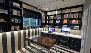 home office work stations. home office designs with 2 work stations and custom wall unit storage l
