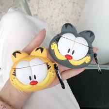 Vỏ Bảo Vệ Hộp Đựng Tai Nghe Airpods Hình Mèo Garfield Đáng Yêu Bằng  Silicon, Giá tháng 1/2021