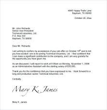 Job Acceptance Letter 6 Free Word Documents Beautiful Formal Offer