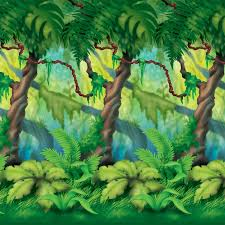 Jungle Theme Decorations Jungle Trees Backdrop Jungle Party Theme Qty Of 6