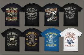 T0shirt Design 200 Editable Vector Collection For T Shirts Design Pass