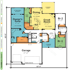 floor plan of a one story house. One Story House Plans Floor Plan Of A L