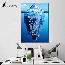 505 40 De Réductionartsail 1 Panneau Peinture Art Succès Citation Citations Inspirantes Peinture Mur Photos Iceburg Affiche De Motivation