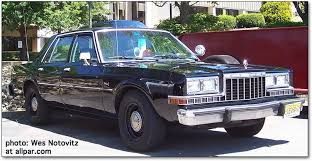 the dodge diplomat and plymouth gran fury police cars dodge diplomat squad
