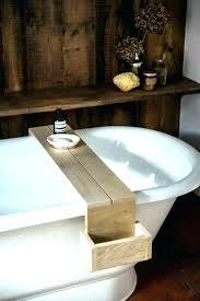 bath tray bathtub teak classy bathroom trays wooden tub table nz