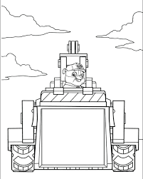 Paw Patrol Pictures To Color Coloring Pages Chase And Page Print
