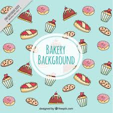 Download Vector Bakery Background With Cupcakes Vectorpicker