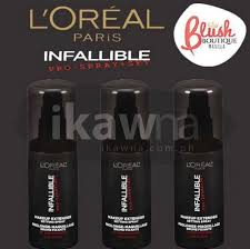 extend the life of your makeup and look fresh all day rated 4 1 in makeupalley on hand l oreal infallible setting spray for 750php sf 60 metro