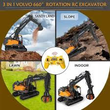 LALOVE Volvo RC Excavator Remote Control Cars RC Truck ...