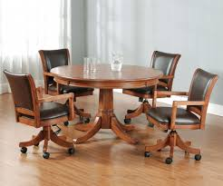 furniture rolling dining room chairs awesome delighted kitchen table and chairs with casters shocking picture