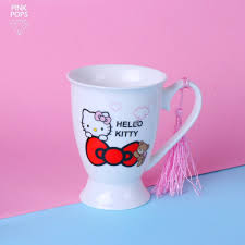 Hello kitty coffee mug allow for many stylish variations and can help express one's personality as well as to advertise particular logos. Hello Kitty Coffee Mug Pinkpops Pk