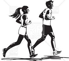 Young Fitness Couple Man And Woman Jogging In Sketch Style Runner Vector Image Vector Illustration Of People Aroastock 200647 Rfclipart