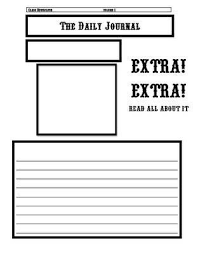 Newspaper Templates For Kids Acepeople Co