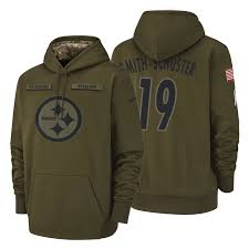 Hoodie Steelers Smith-schuster Service Olive 2018 Salute Juju To