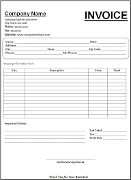 Free Invoice Templates To Download
