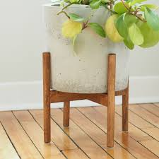 picture of wood plant stand