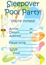 Free Printable Slumber Party Birthday Invitations Mult