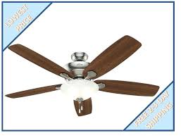 details about hunter regalia ii in brushed nickel or close mount ceiling fan flush kit