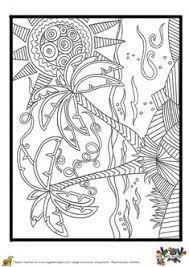 dessin à colorier de deux palmiers géants