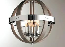 wood and chrome barrel sphere chandelier shades of light s distressed