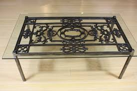 awesome graceful iron glass coffee table 3 attractive wrought and ideas