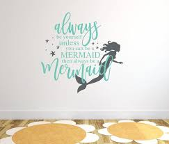 mermaid wall decor wall stickers for